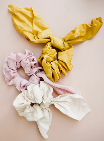 darling satin mini scarf scrunchie - Piper & Chloe