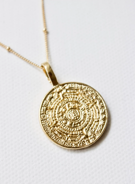 sundial disc necklace