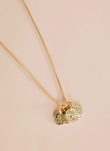 coin cluster necklace - Piper & Chloe