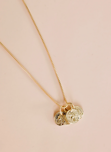 coin cluster necklace