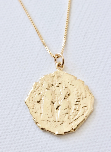 necklace with large vintage greek coin - Piper & Chloe