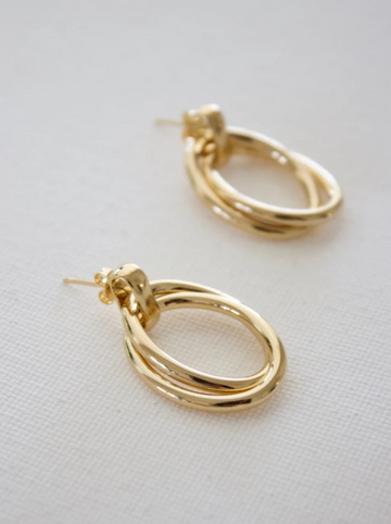 double oval earrings - Piper & Chloe