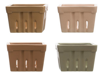stoneware berry baskets - Piper & Chloe