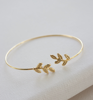 leaf cuff bangle - Piper & Chloe