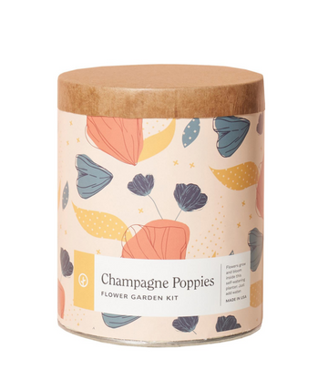 waxed planter grow kit - champagne poppies - Piper & Chloe