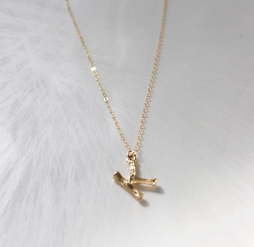 necklace with small initial - Piper & Chloe
