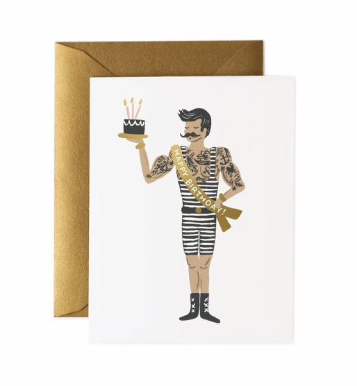 greeting card - strongman birthday