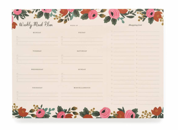 meal planner in rosa