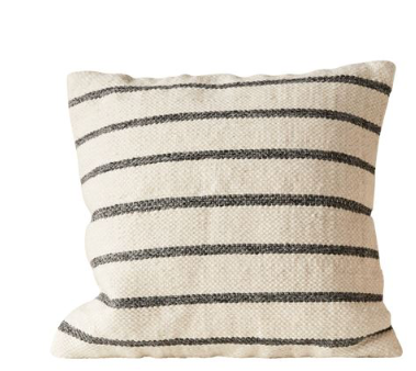 pillow striped woven wool