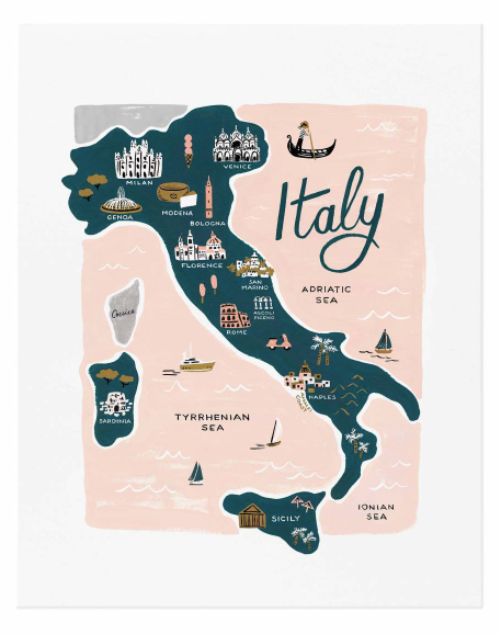 map print - italy