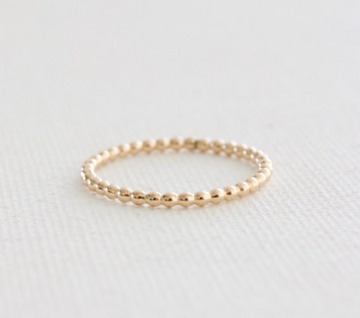 stacking ring in beaded gold - Piper & Chloe