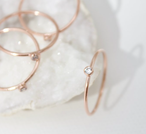 stacking ring in single cz - Piper & Chloe