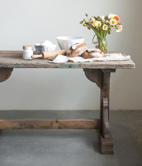 reclaimed wood table - Piper & Chloe