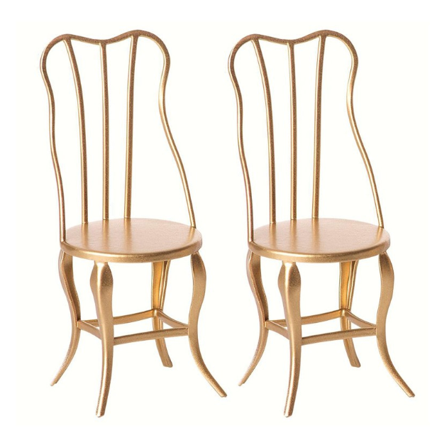 micro vintage chair set in gold - Piper & Chloe