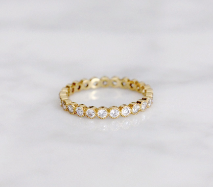 delicate clear cubic zirconia ring