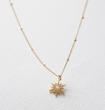 gold and opal star necklace - Piper & Chloe