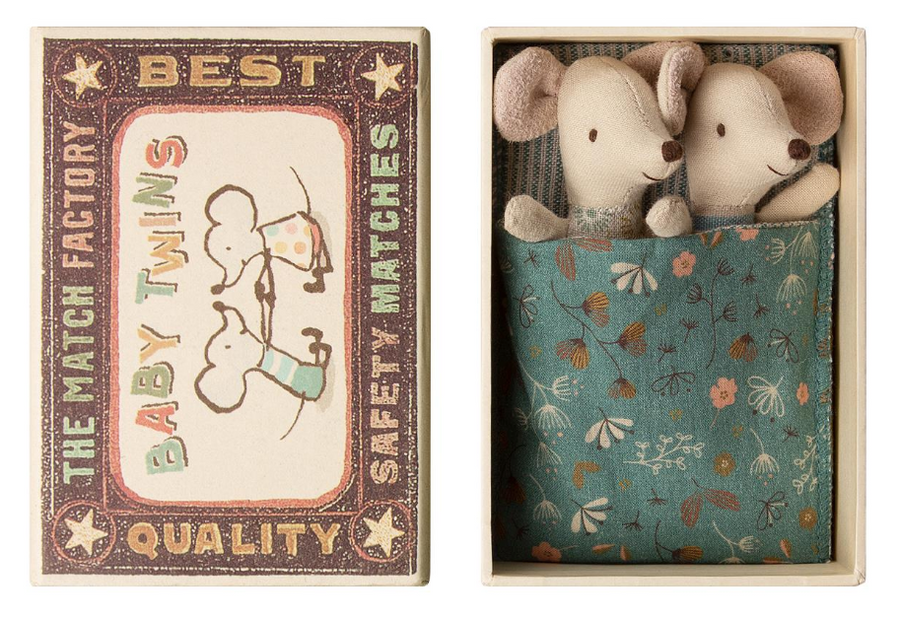 baby mice twins in matchbox - Piper & Chloe