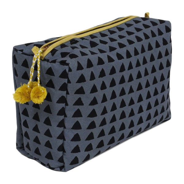 toiletry bag - tunis blue