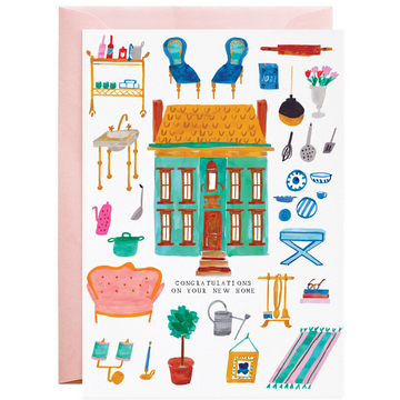 Mr. Boddington We Bought A Dollhouse! Greeting Card Hand Drawn Brilliant Print | Piper & Chloe