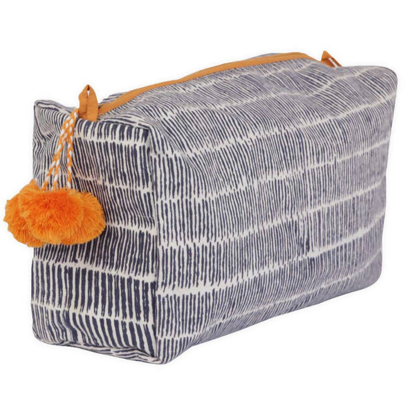 toiletry bag - granada stripes night sea