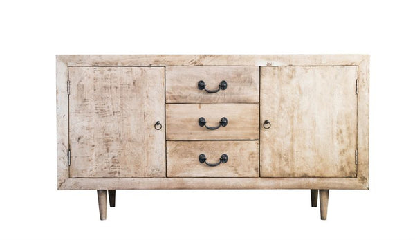 distressed mango wood console