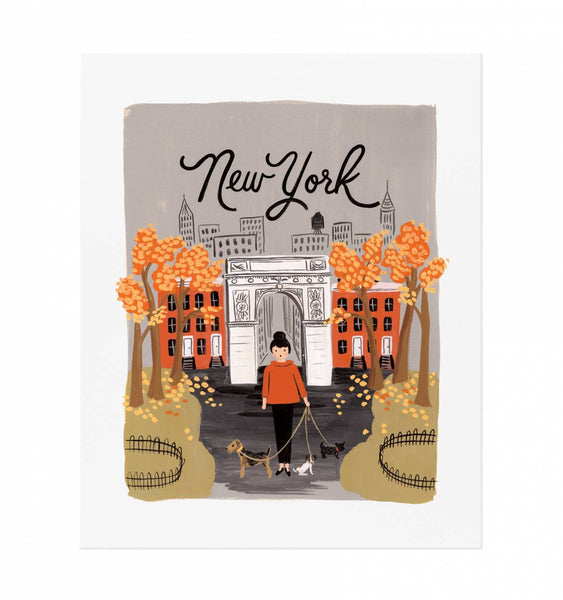 new york autumn print