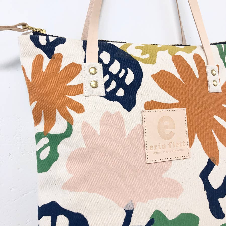 canvas mod tote in garden - Piper & Chloe