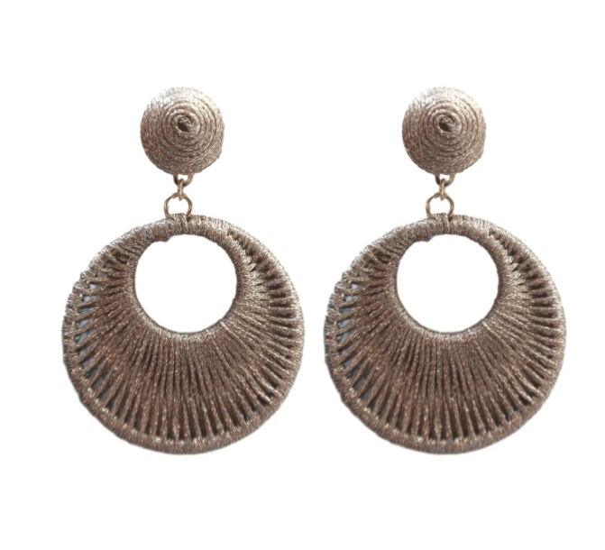 bali wrapped earring drops in metallic copper from st. armands designs | Piper & Chloe