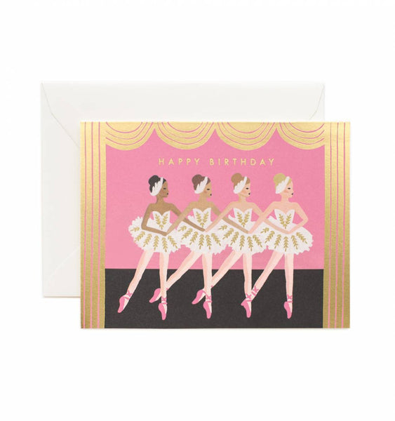 greeting card - birthday ballet