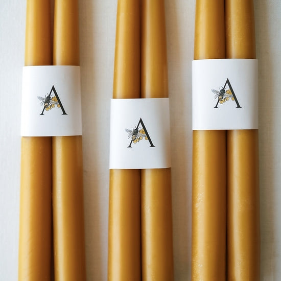 100% Pure Beeswax Tapers | Piper & Chloe