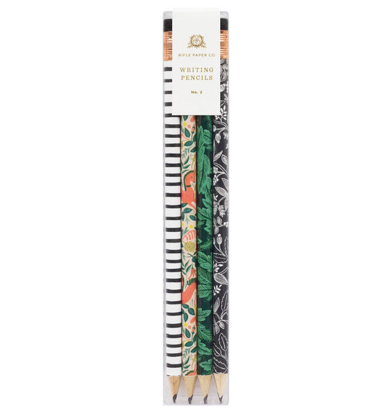 pencil set in folk print