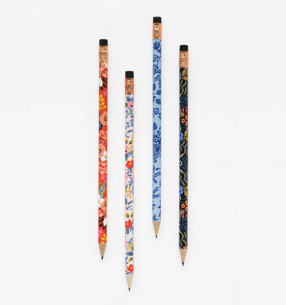 pencil set in floral print