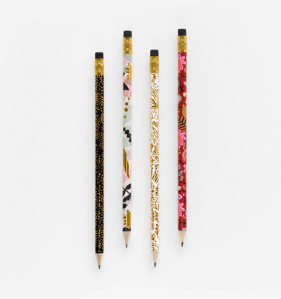 pencil set in modernist print