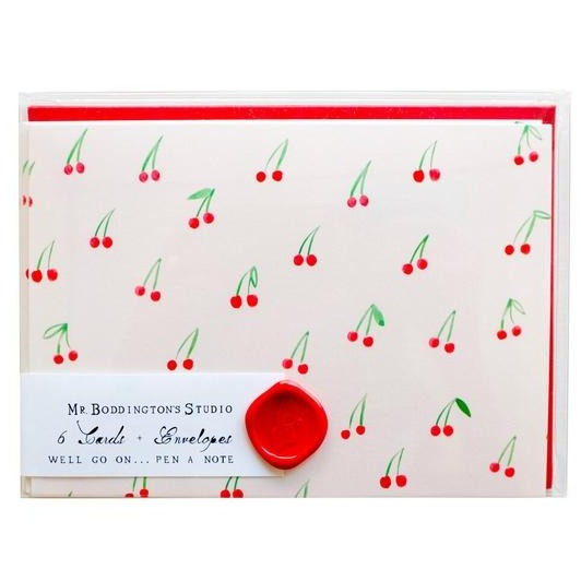 Cherries on Top Note Card and Envelopes Set of 6 Hand Drawn | Piper & Chloe