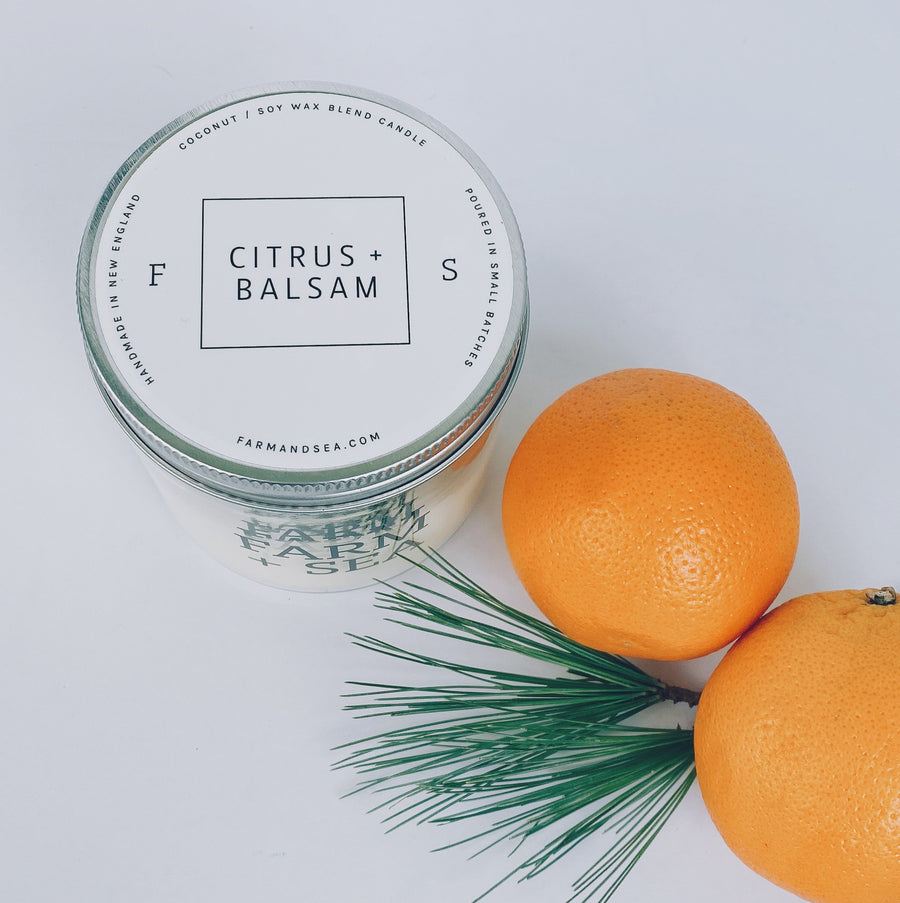 farm + sea candle in citrus + balsam - Piper & Chloe