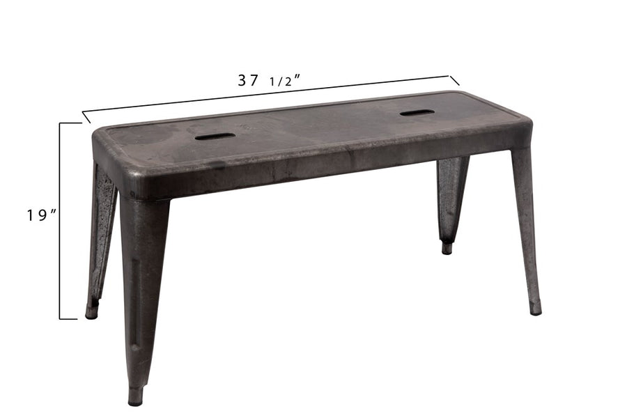 galvanized metal bench - Piper & Chloe
