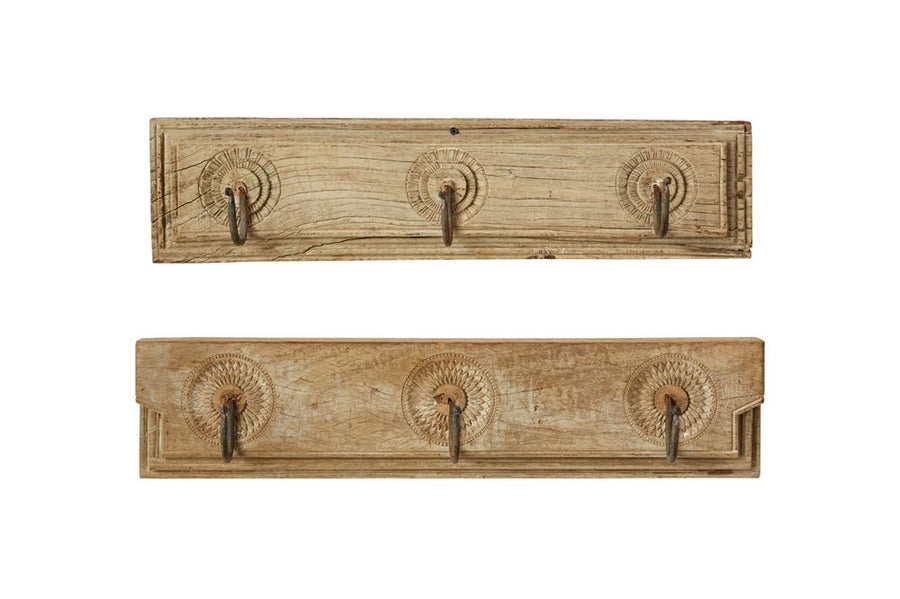 reclaimed wood wall hooks - Piper & Chloe