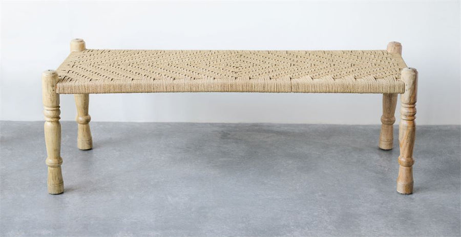 bench wood & woven - Piper & Chloe