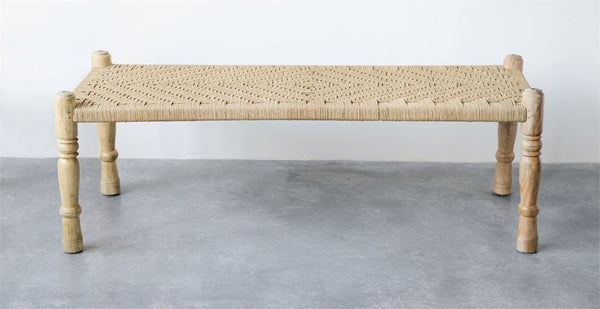 bench wood & woven