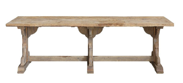 reclaimed wood table