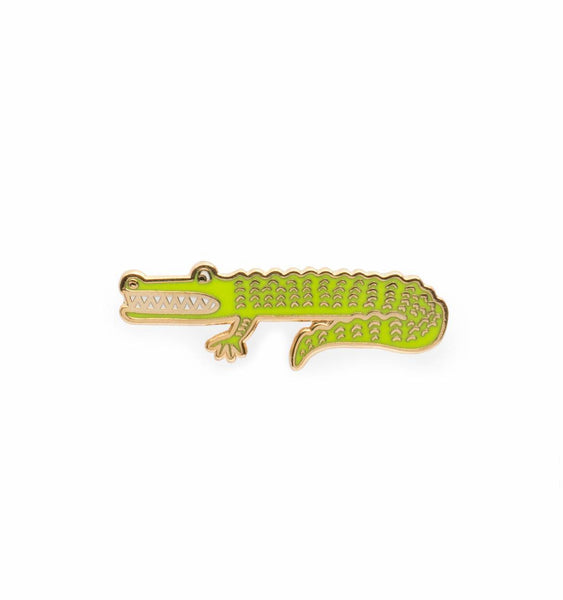 enamel alligator pin