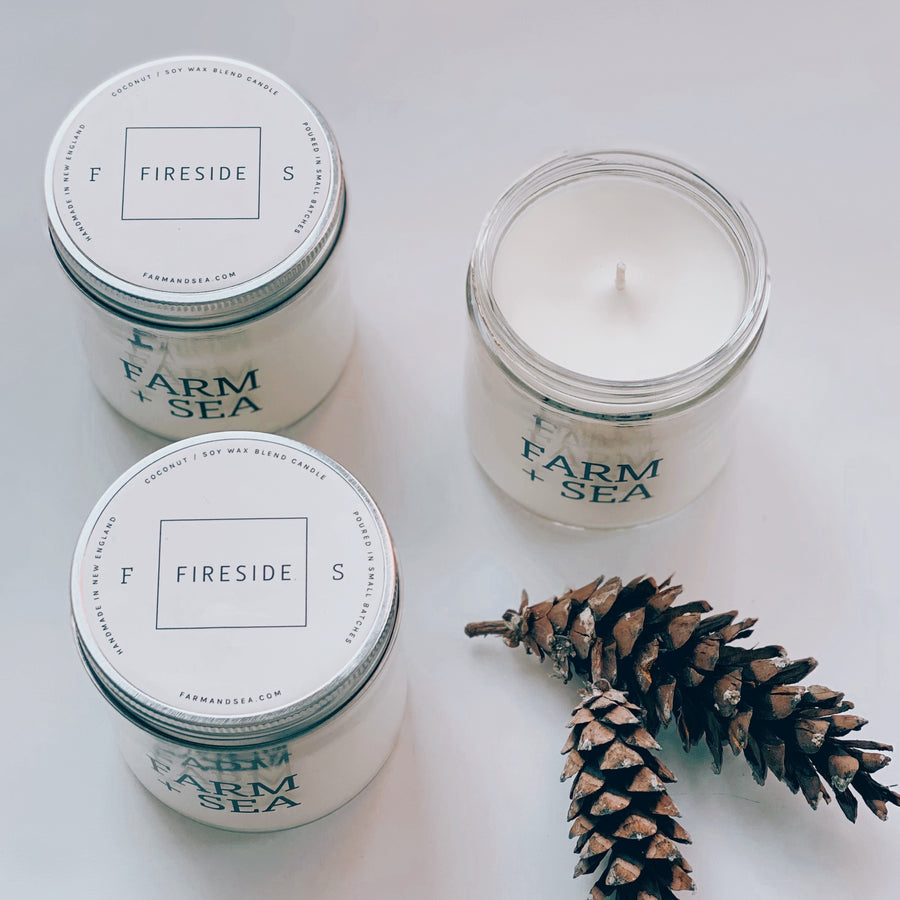 farm + sea candle in fireside