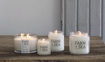 farm + sea candle in woods + salt - Piper & Chloe