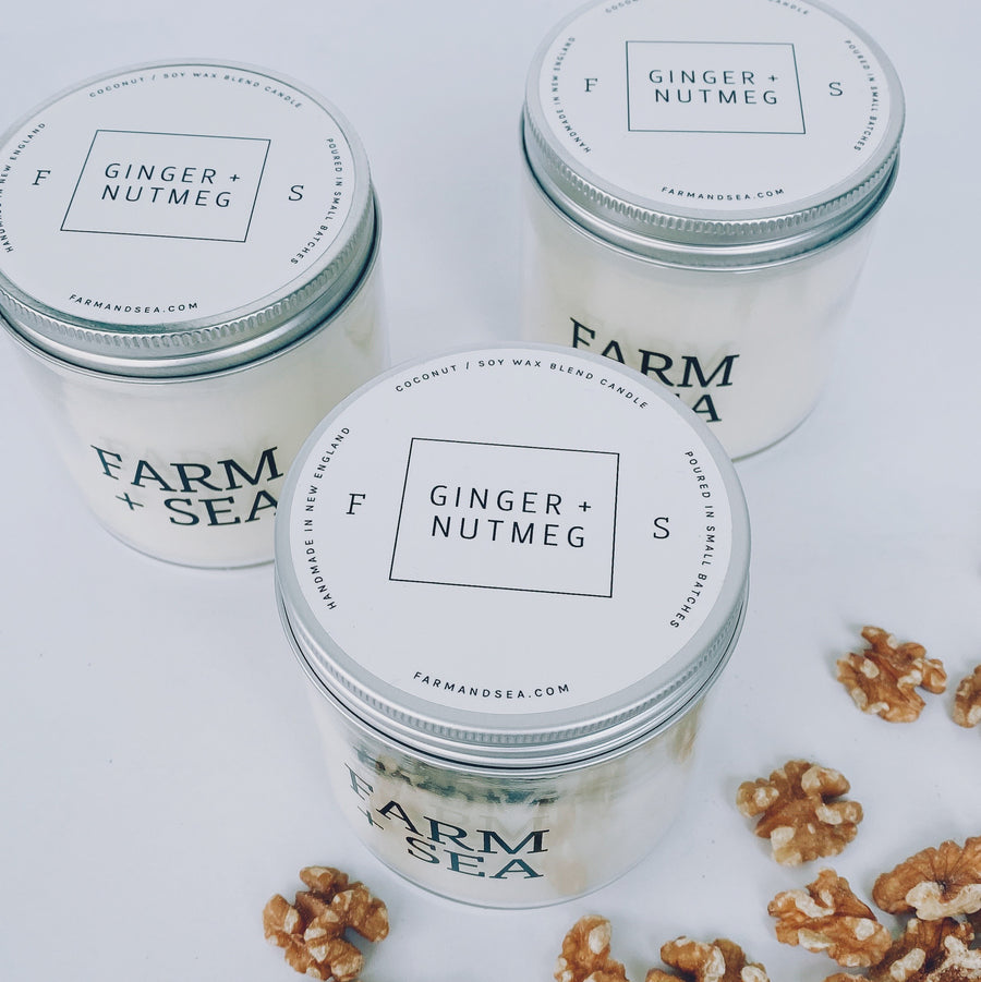 farm + sea candle in ginger + nutmeg - Piper & Chloe