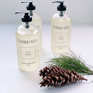 farm + sea hand soap in fir tree - Piper & Chloe