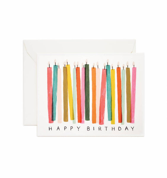 card set in birthday candles