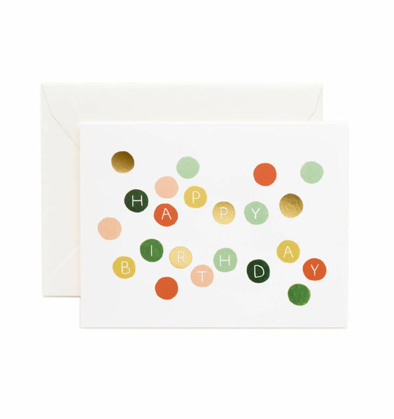 greeting card - birthday dots