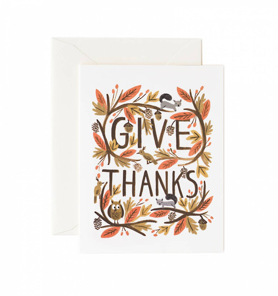 greeting card - thankful forest - Piper & Chloe