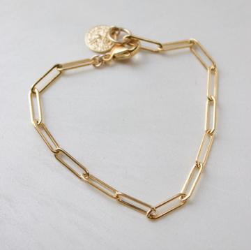 flat cable chain bracelet - Piper & Chloe