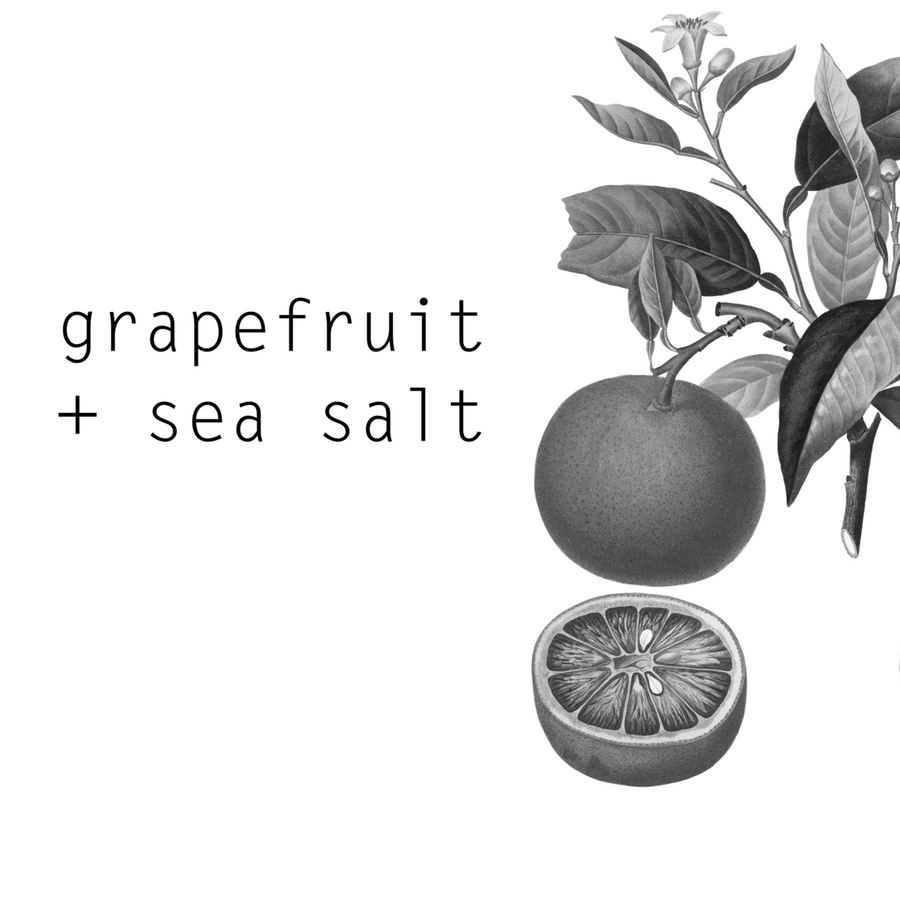 farm + sea candle in grapefruit + sea salt - Piper & Chloe